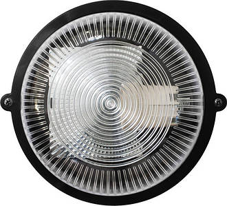Светильник ЖКХ НПП-65 ПП-1002-10-0/6 круг черный/прозрачный с рисунком IP65 Е27