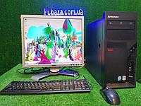 "Компьютер Lenovo \ Intel 4 ядра, 4 ГБ ОЗУ, 160 Гб+  Монитор Dell 19"" ( клавиатура и мышка в подарок)"