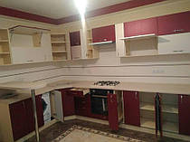 Угловая кухня под заказ с текстурным фасадом 2000*3460 мм. 2