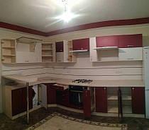 Угловая кухня под заказ с текстурным фасадом 2000*3460 мм. 3