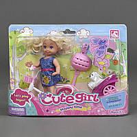 Кукла с велосипедом Defa Cute girl 899-13, фото 1