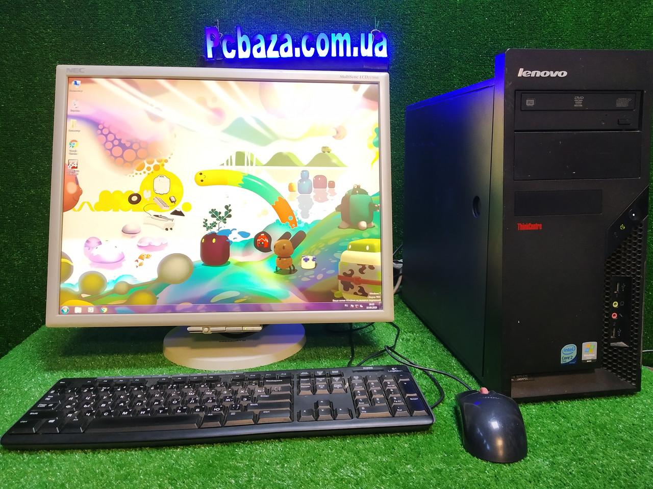 "Компьютер Lenovo \ Intel 4 ядра, 4 ГБ ОЗУ, 160 Гб+ PVA Монитор NEC 22"" ( клавиатура и мышка в подарок)"