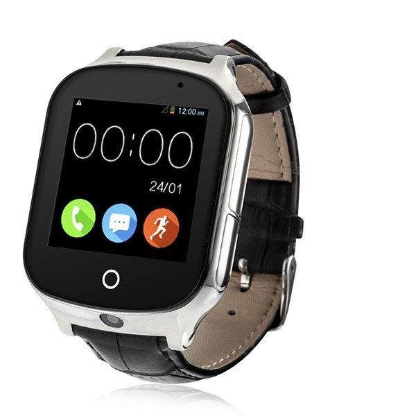 Умные часы GPS smart watch для подростков и пожилых людей A19 Black