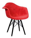 Крісло Leon BK Віскоза, червоний, фото 2