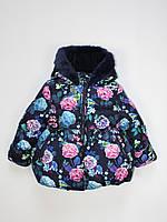 Куртка детская Marks & Spencer для девочки синяя 86 см