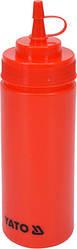 Диспенсер для холодных соусов красный 350 мл YatoGastro YG-00550