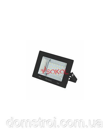 Прожектор LED-SLТ 20w 220В 1500lm 6500K Sokol алюминиевый корпус, закаленное стекло, фото 2