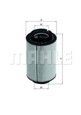 Фильтр топливный Mahle  SEAT ALTEA 05-. LEON 05-. TOLEDO 05- (TDI) SKODA OCTAVIA 04- (TDI) VW CADDY 04-. GOLF