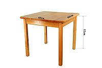 Детский стол деревянный Ольха  (лакированный) ТМ Финекс
