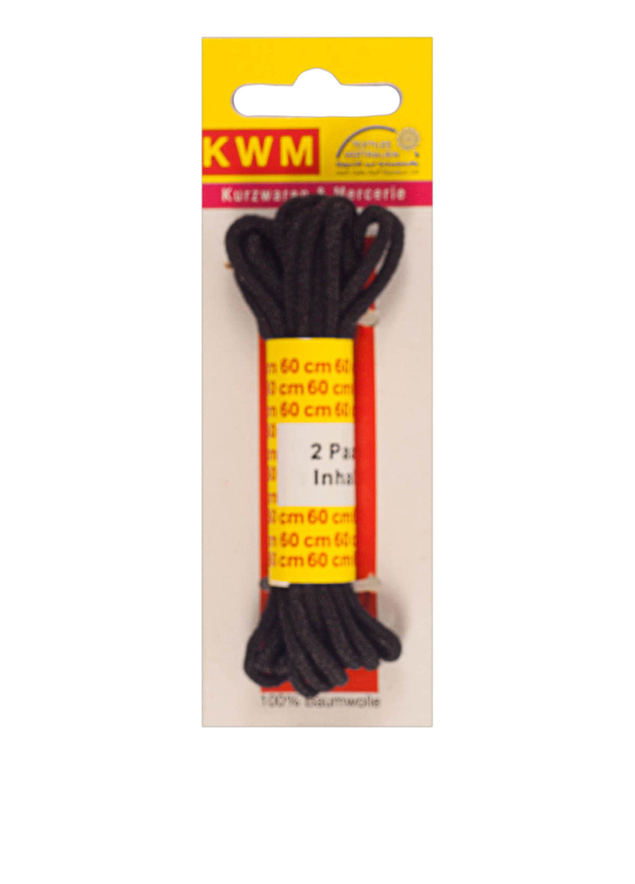 Шнурки, 60 см, 2 пары, круглые 2 мм