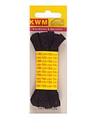 Шнурки черные, 1 пара, 180 см, ширина 7 мм.
