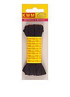Шнурки черные, 1 пары, 150 см, ширина 7 мм