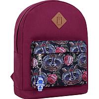 Стильный рюкзак, сумка Bagland 17л., для прогулок и спорта (вишневый), фото 1