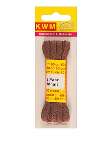 Шнурки коричневые, 2 пары, 60 см, ширина 5 мм