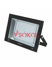 Прожектор LED-SLТ 50w 220В 3500lm 6500K Sokol алюминиевый корпус, закаленное стекло