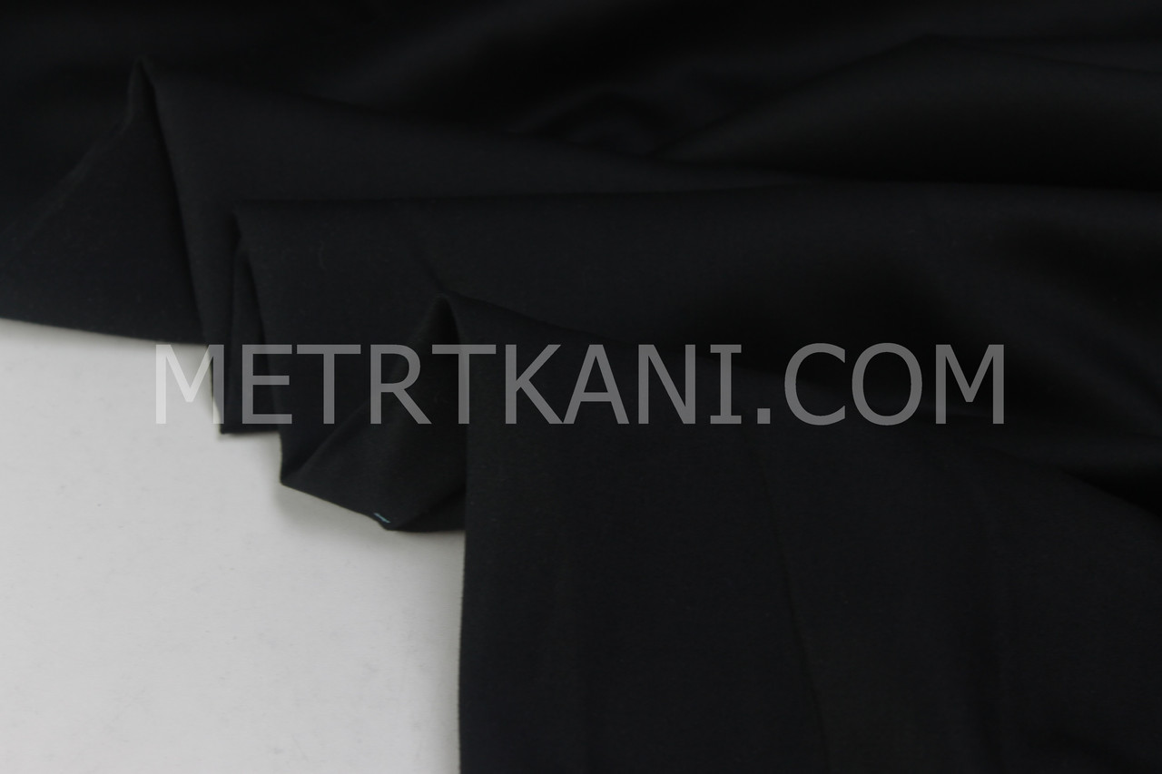 Сатин премиум чёрный цвет, ширина 240 см № ПС-0013