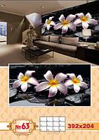 Фотообои Prestige Белые цветы  Франжипани № 63