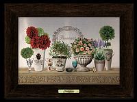 """Картина метал, натуральне дерево """"Прованс"""" Букет жоржин та троянд"""