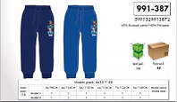 Спортивные штаны на флисе для мальчиков оптом, Disney, 3-8 лет,  № 991-387