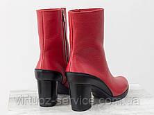 Ботинки женские Gino Figini Б-17456/2-04 из натуральной кожи 38 Красный, фото 2