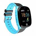 Детские Водонепроницаемые часы с gps Smart baby HW11 голубые, фото 2