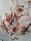 """Тюль на батисте с печатью """"Цветы"""" на метраж и опт высота 2.8 м, фото 3"""