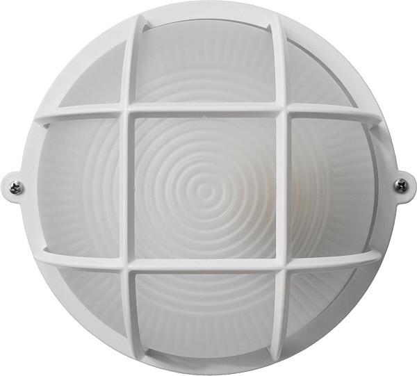 Светильник ЖКХ НПП-65 ПС-1051-11-1/1 круг белый опаловый плафон IP65 Е27 с решеткой