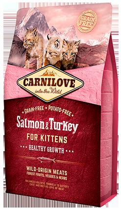 Carnilove Cat Salmon & Turkey Kitten сухий корм з лососем та індичкою для кошенят, 6 кг