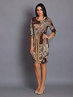 Стильное платье с манжетами на рукавах