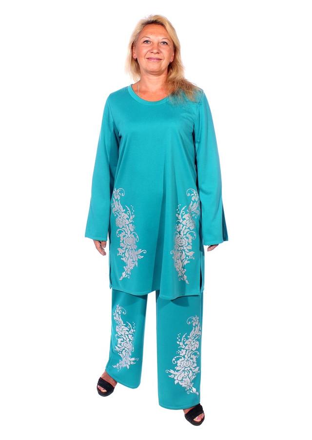 костюм для полных женщин с брюками Весна