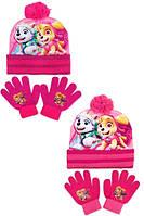 Шапка+перчатки для девочек оптом, DISNEY,  № 780-710