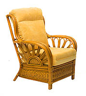 Кресло Cruzo Аскания Премиум из натурального ротанга Светло-коричневый as0011, КОД: 743301