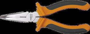 Тонкогубци подовжені вигнуті 200 мм NEO 01-016