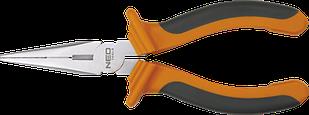 Тонкогубци подовжені прямі 160 мм NEO 01-013