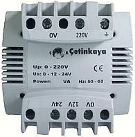 Трансформатор переменного напряжения понижающий 220 / 230 в до 12в 24 вольт, 50 ВА