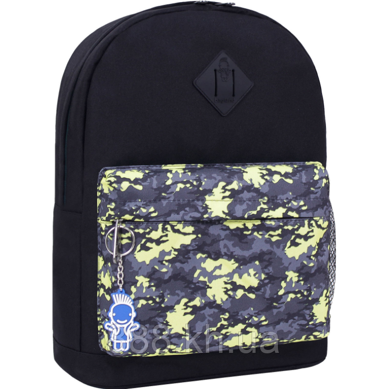 Стильный рюкзак, сумка Bagland 17л., для прогулок и спорта (черный)