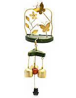 Колокольчик дверной Цветок с бабочками 30х10х10см