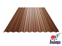 Профнастил ПС-8, 0.3мм, RAL 8017 (коричневый)