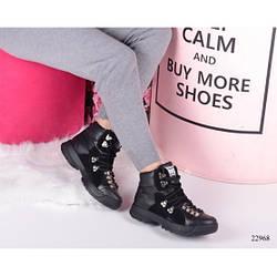 Ботинки GUCCI Flashtrek кожаные