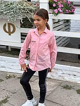 """Хлопковая детская рубашка для девочки """"Ness"""" с длинным рукавом (2 цвета), фото 2"""