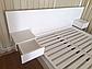"""Біле дерев'яне ліжко """"Токіо"""" із натурального дерева, фото 8"""