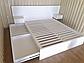"""Біле дерев'яне ліжко """"Токіо"""" із натурального дерева, фото 9"""