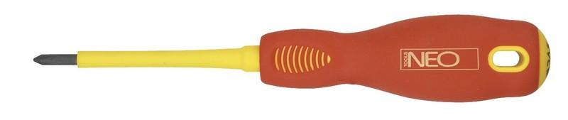 Отвертка крестовая 1000В PZ2x100мм NEO Tools 04-063