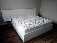 """Біле дерев'яне ліжко """"Токіо"""" із натурального дерева"""