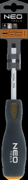 Отвертка шлицевая ударная 5,5x75мм NEO 04-017