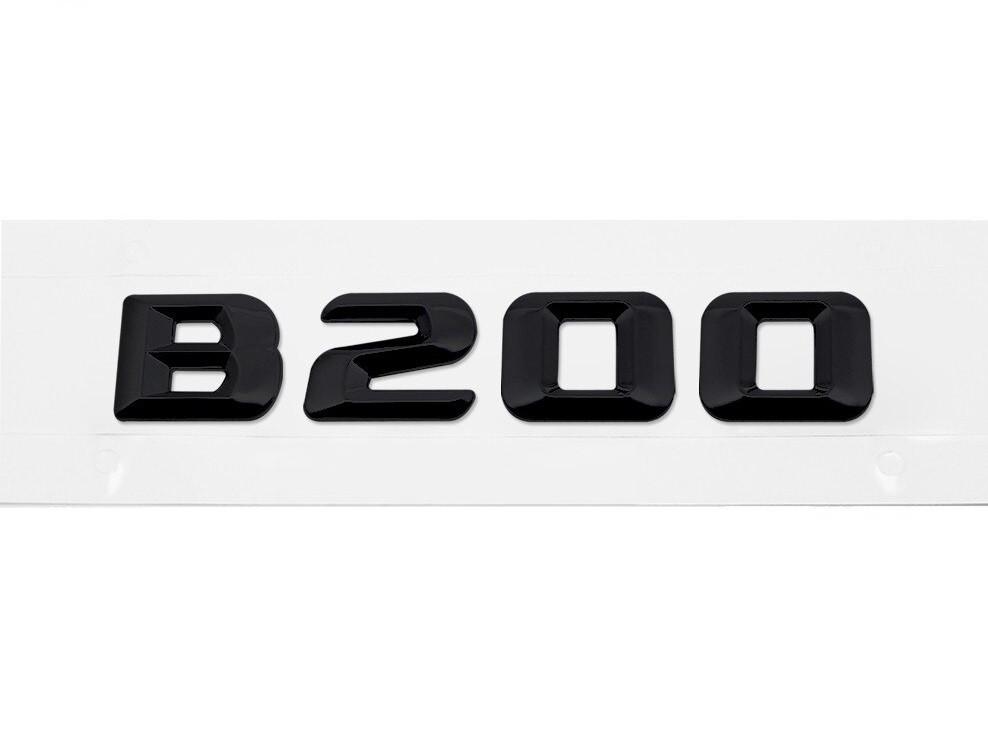 Матовая Эмблема Шильдик надпись B200 Мерседес Mercedes