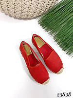 Эспадрильи Chanse красные плетеный носочек