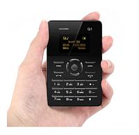 Мини мобильный маленький телефон Card Phone Q1 BLACK, фото 1