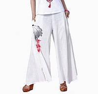 Женские белые брюки Лен