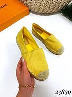 Эспадрильи Chanse желтые плетеный носочек